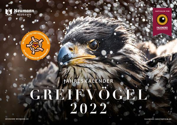 Kalender, Greifvögelkalender, Kalender 2022, Greifvögel