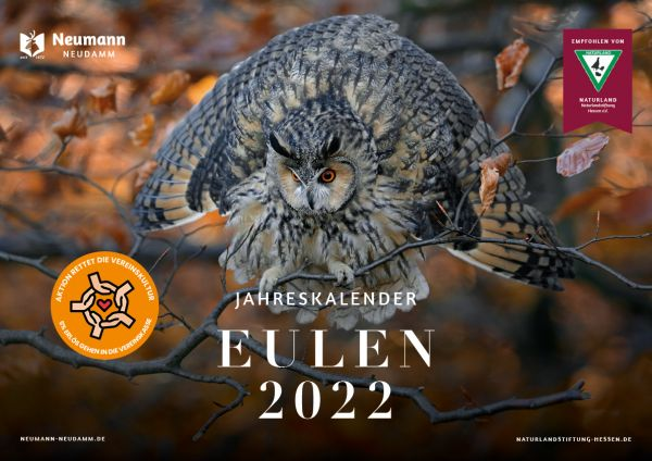 Kalender, Kalender 2022, Eulen, Kalender Eulen