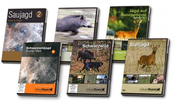 Mikael Tham, Saujagd, Schwarzwildjagd, DVD, Jagdfilme, Set