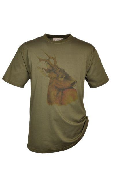 T-Shirt, Motiv Rehbock, Hubertus-Shirt