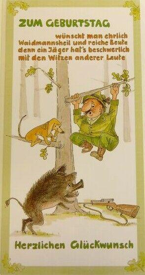 Geburtstagskarte,Jäger, Jagdfreunde, Grußkarte zum Geburtstag
