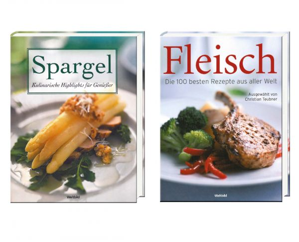 Buchpaket, Spargel, Fleisch