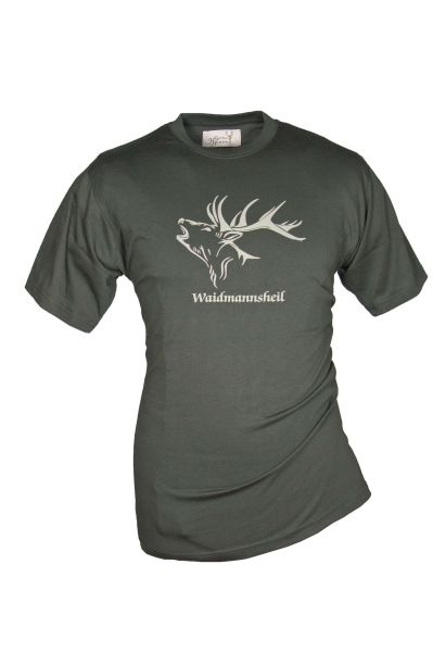 Hubertus, Waidmannsheil, T-Shirt, Jagdbekleidung, Geschenke für Jäger