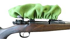 Zielfernrohschutz aus Loden, Waffenzubehör,