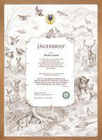 Jägerbrief, Geschenkidee, Jägerbrief
