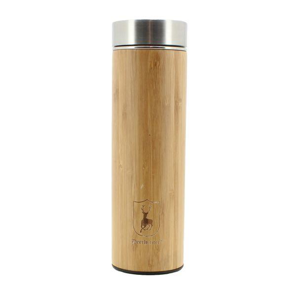 Deerhunter, Thermosflasche, Flasche, Bambus, rostfreier Stahl