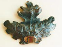 Eichenblattverzierung aus Bronze , Trophäen , Keilerbrett , Keiler , Dekoration