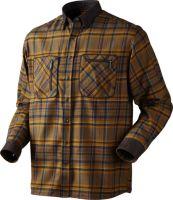 Pajala,Hemd,Tabacco,Check,Manschetten,Ellbogen,Kragen,Hemd,Druckknöpfe,Brusttaschen,Reißverschluss