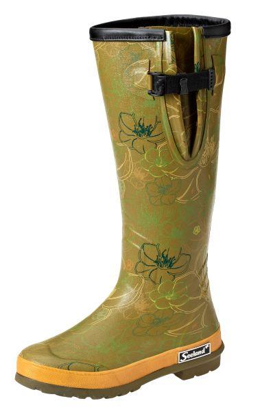 Gummistiefel, Stiefel mit Blumen, Jagd, Damenstiefel