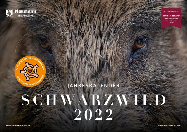 Kalender 2022, Schwarzwildkalender 2022, Jagdkalender, Bildkalender, Kalender 2022