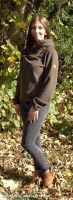 Damenpullover, Hubertus Pullover, Pullover Damen, Fleece Pullover,