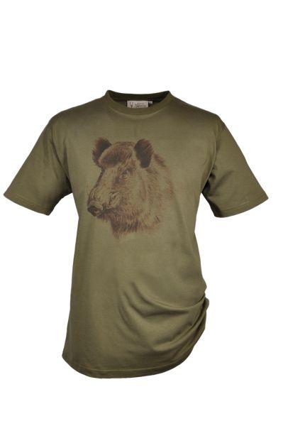 T-Shirt, Motiv Keiler, Hubertus