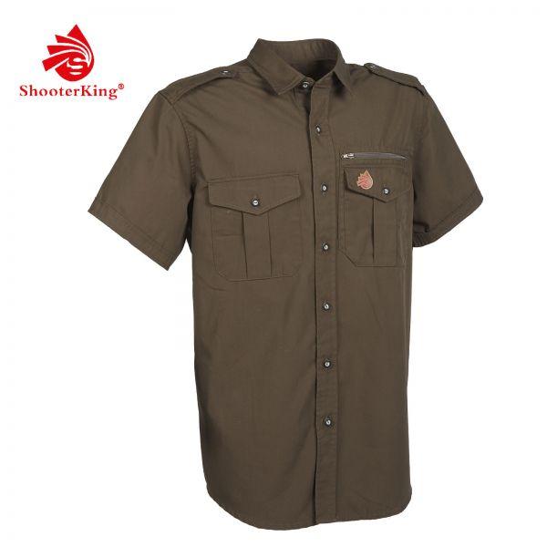 Shooterking, Herrenhemd, Hemd, kurzarm Hemd