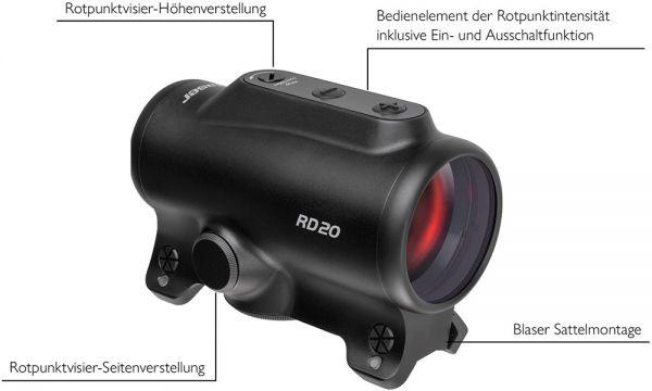 Blaser Reflexvisier RD20, Reflexvisier, Zieloptik, Rotpunktvisier, Drückjagd,