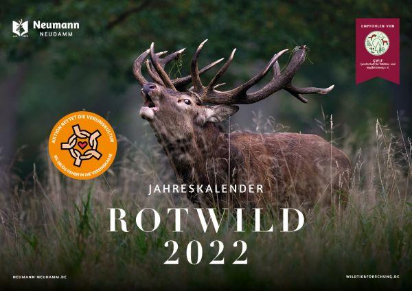 Kalender, Jagdkalande, Rotwildkalender 2022, Kalender 2022, Bildkalender 2022