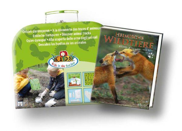 Entdeckerset,Tierspuren,Kasten,Heimische,Wildtier,Lupe,Jagd,Beobachten,Sammeln,Tauschen