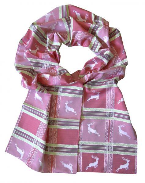 Foresta Seidenschal kiwi / pink