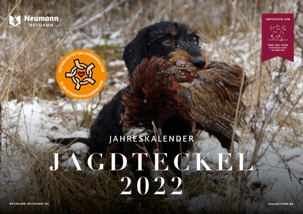 Kalender, Teckelkalender, Kalender 2022, Jagdkalender,