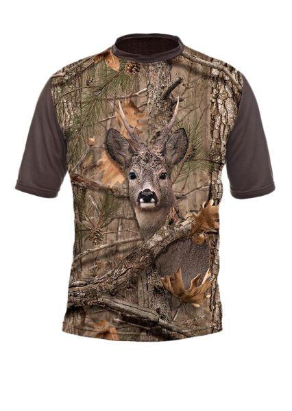 Hilmann, T-Shirt, Motiv, Bock, Camo,