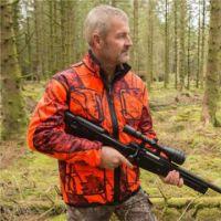Shooterking Mossy Blaze Orange Softshell Jacke , Drückjagdjacke, Jagdjacke , Signaljacke , Drückjagd